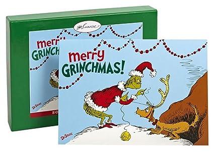 Grinch Full Bleed diseño caja de 18 tarjeta tarjetas de Navidad ...