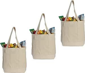 Earthwise reutilizable bolsas de XL 100% lona de algodón gamuza de ...