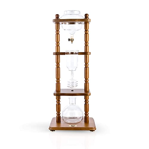 YAMA-Glass-YAMCDM8CBR,-Brown-Frame-Cold-Brew-Drip-Coffee-Maker