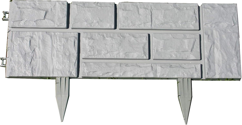 Zaun Rasenkante Beeteinfassung Grau 2 34 M X 20 Cm Hohe 2 5 Cm