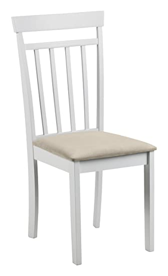 Julian Bowen Dining Chairs Wood White 44x50x94 Cm Amazon