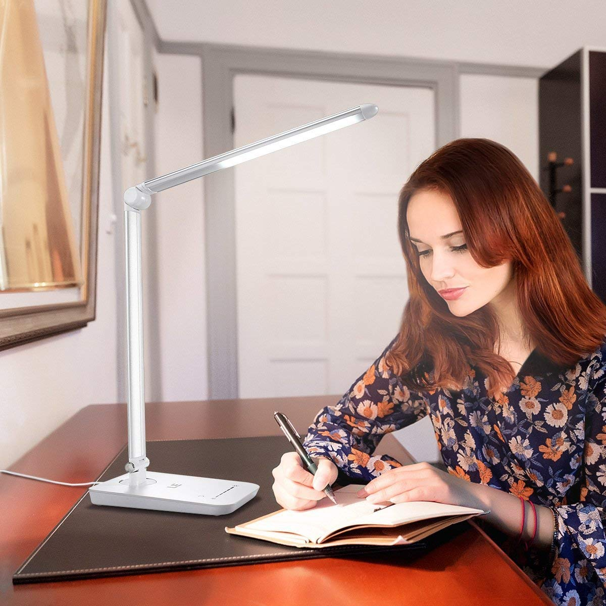 LE Lámpara Cuidado de escritorio LED 8W, 7 Niveles de brillo, Cuidado Lámpara a la vista, Blanco frío 5000K, Lámpara LED para Trabajo y lectura b97862