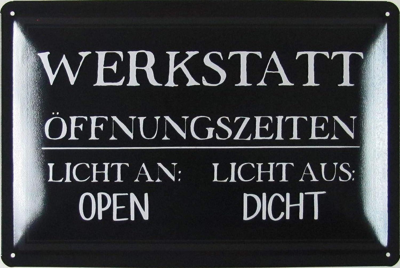 Ein guter Handwerker Werkstatt Schild Blechschild bedruckt geprägt Geschenk