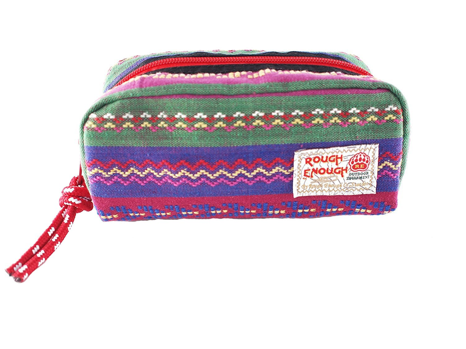 Rough Enough Classic Folk Multi-propose School Stationary Comes-tic Pouch
