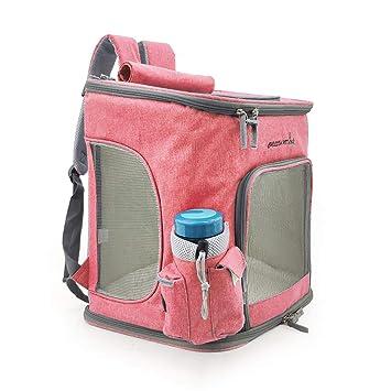 Maimai Mochila Extra Grande para Mascotas Que Lleva el maletín Plegable para Paneles para Gatos y Perros (Color : Rosa roja): Amazon.es: Productos para ...
