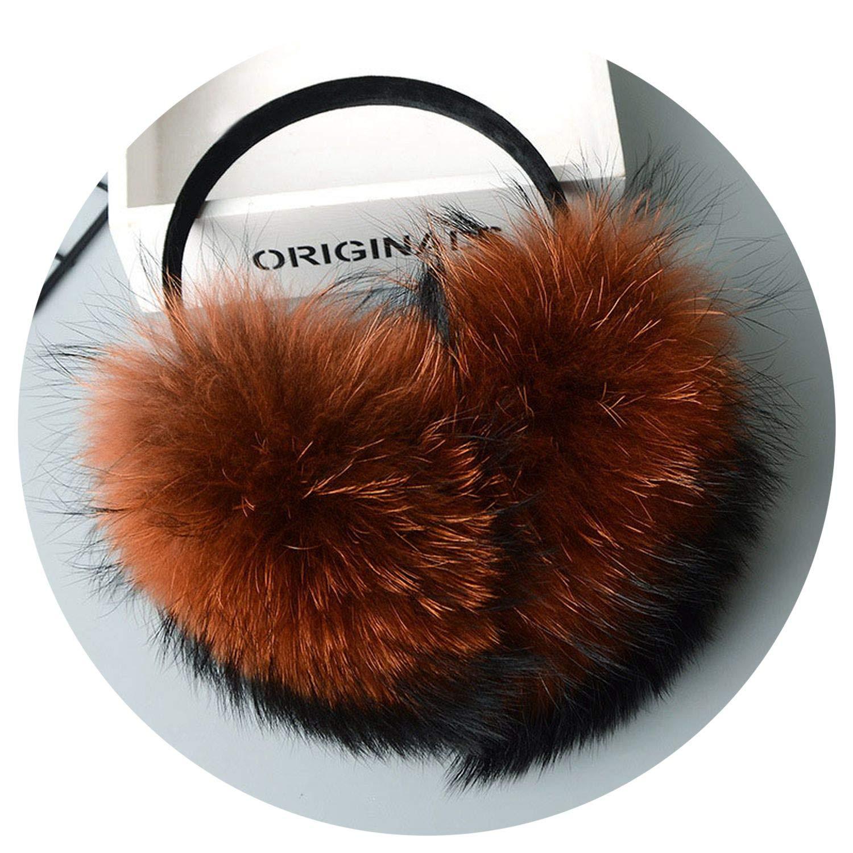 Winter Women Warm Real Earmuffs Ultralarge Plush Ear Muff plush earmuffs #2,caramel cur