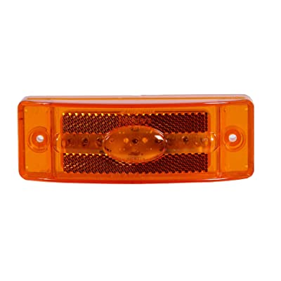 "Maxxima M20391Y Amber 2"" x 6"" LED Reflectorized Combination Clearance Marker Light: Automotive"