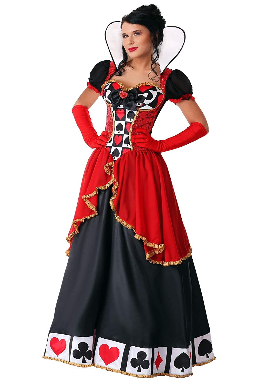 1X Women's Plus Size Supreme Queen of Hearts Fancy Dress Costume 1X