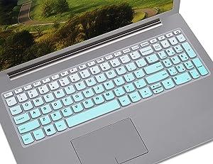 Keyboard Cover Compatible with 2019 2018 Lenovo IdeaPad 15.6 inch/Lenovo Ideapad S145 S340 L340 130 320 330 330s 340s 520 720s 15.6 inch/Lenovo V330 V130 15.6 inch/IdeaPad 320 330 17.3, Gradual Mint
