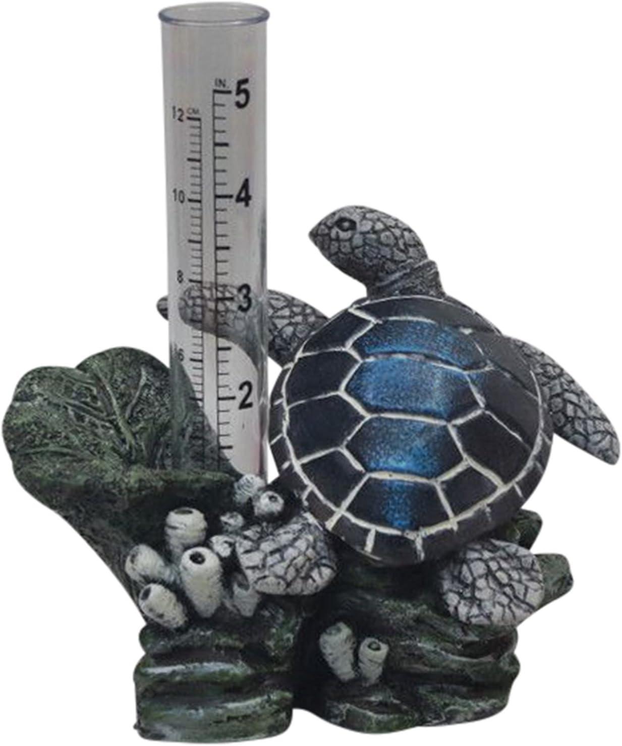 The Crabby Nook Small Rain Gauge Garden Outdoor Decor (Sea Turtle)