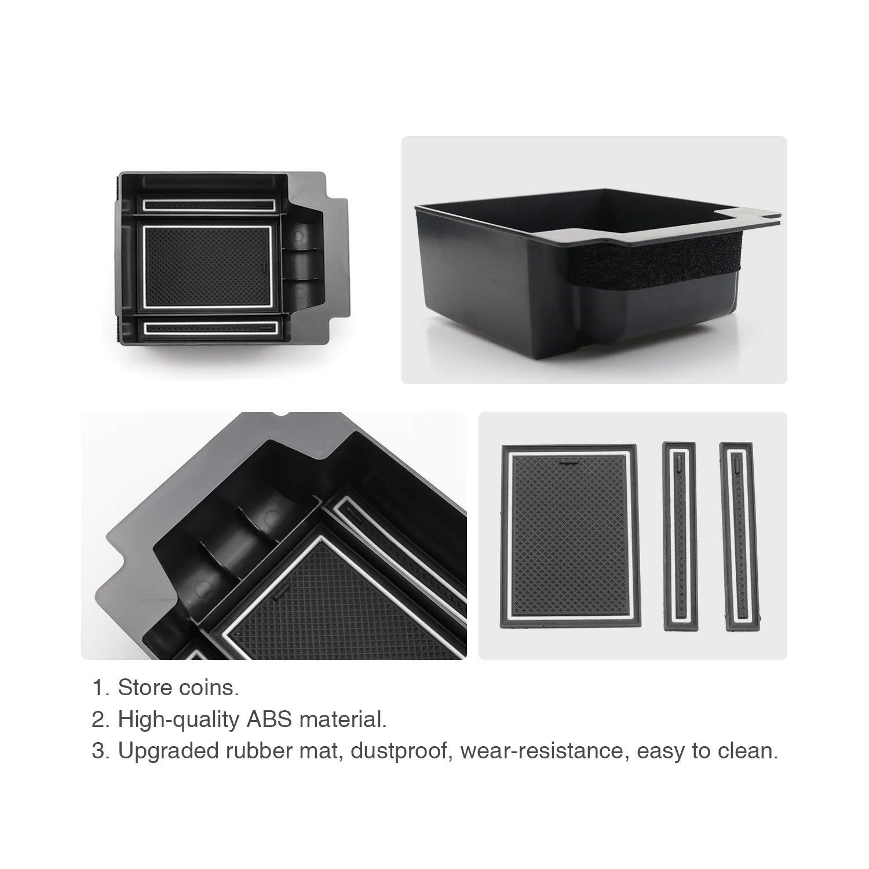 Organizer per auto【Rosso】 RUIYA Seat Ateca Organizer per Console Centrale Central Console Box vano portaoggetti Console Storage Box inserto vassoio