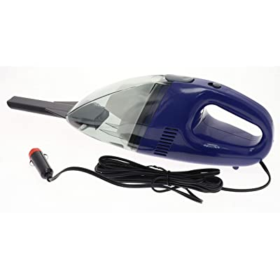 Portable Car Vacuum Cleaner - Wet Dry Surface 12 V Corded Handheld Vacuum Works From Auto Truck RV Boat 12 Volt Power Port Socket. 65 Watt Motor 9' Cord And With Slim Nozzle for Hard-To-Reach Crevices: Home & Kitchen