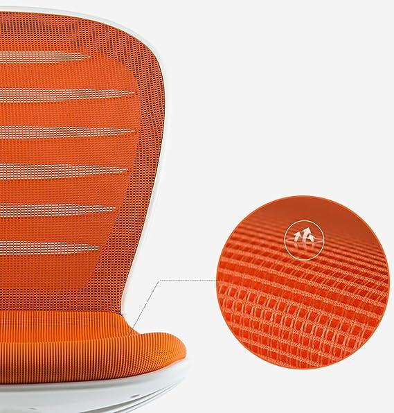 Computadora Silla Casa Mobile Mesh Silla de Oficina Pequeña elevación Silla giratoria Silla del Personal Silla Moderna Minimalista sin Brazos (Color : E): ...