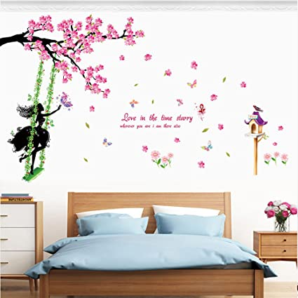 Amazon.com: Wall Stickers New Butterfly Flower Fairy ...
