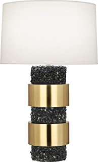 product image for Robert Abbey BL577 Betty - One Light Table Lamp, Modern Brass/Polished Black Stone Finish with Fondine Fabric Shade