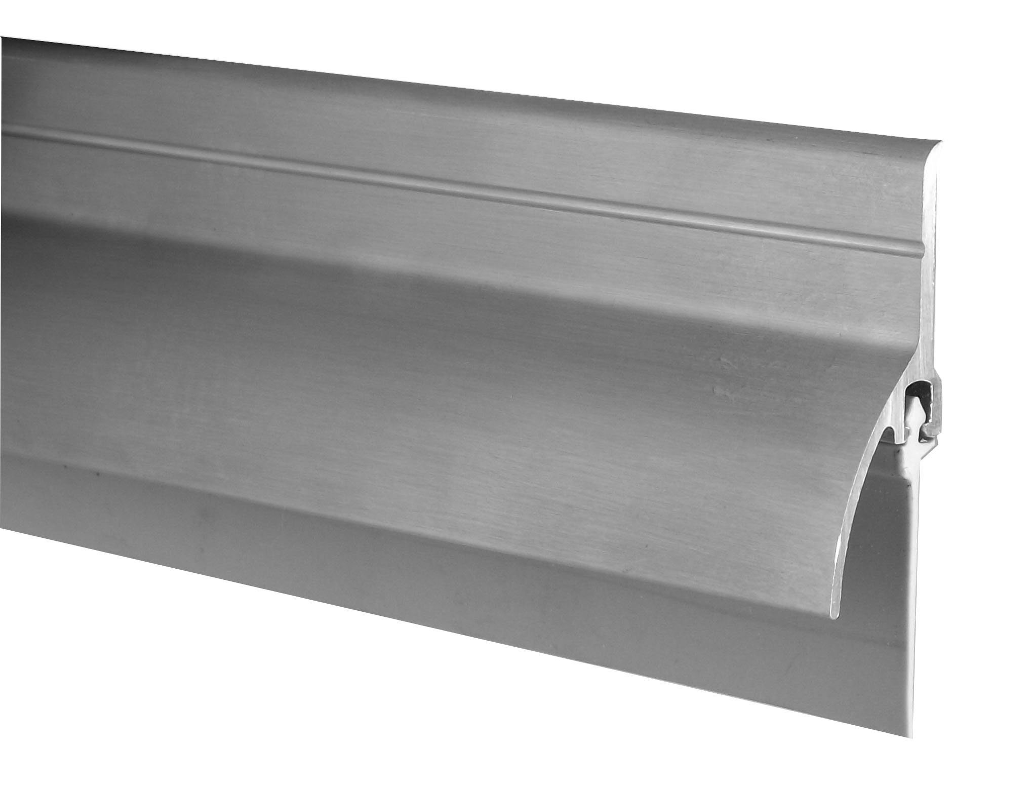"Pemko Door Bottom Sweep with Rain Drip, Mill Finish Aluminum with Gray Vinyl Insert, 0.5625"" W x 2"" H x 36"" L"