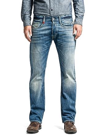 Replay Herren Boot-Cut Jeans Billstrong, Blau (Blue Denim), 29W/