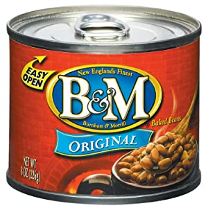 B & M Baked Beans, Original Flavor, 8 Ounce (Pack of 24)
