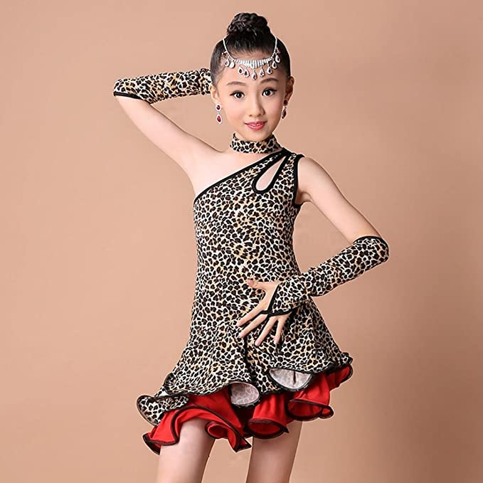 903b7d01e4d2 Amazon.com  Rucan Toddler Kids Girls Leopard Latin Dance Samba ...