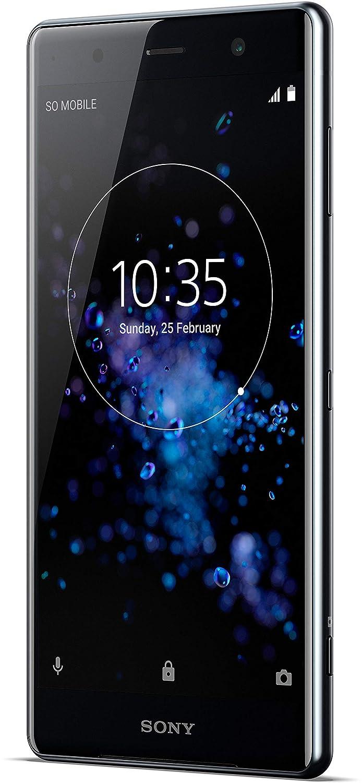 Sony Xperia XZ2Smartphone Premium (Pantalla Triluminos HDR 4K de 14,7cm (5,8Pulgadas)), Negro + Tarjeta de Memoria de 64GB