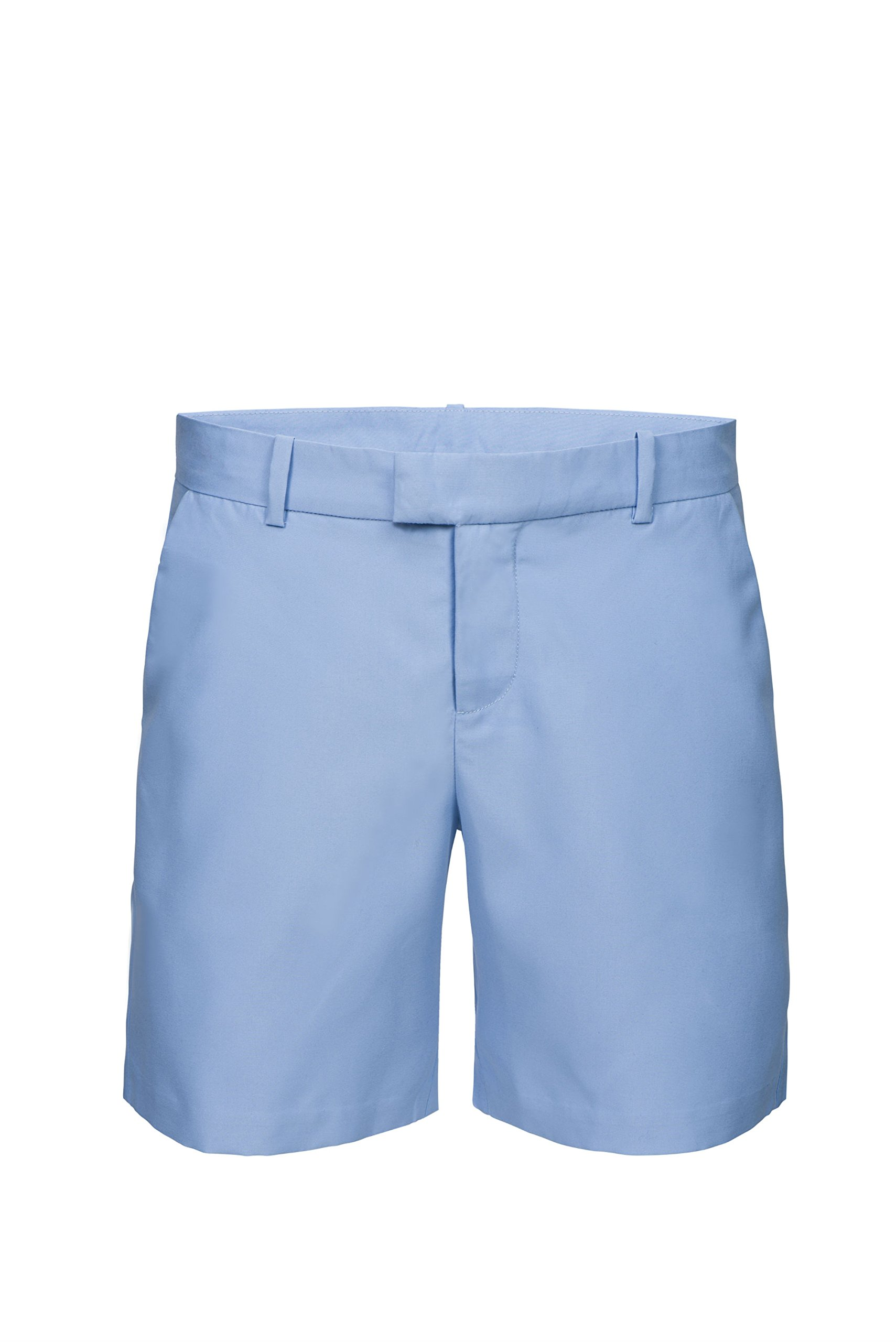 SWIMS Men's Slim Fit Flat Front Paloma Chino Hybrid Shorts in Sky Blue - Size L