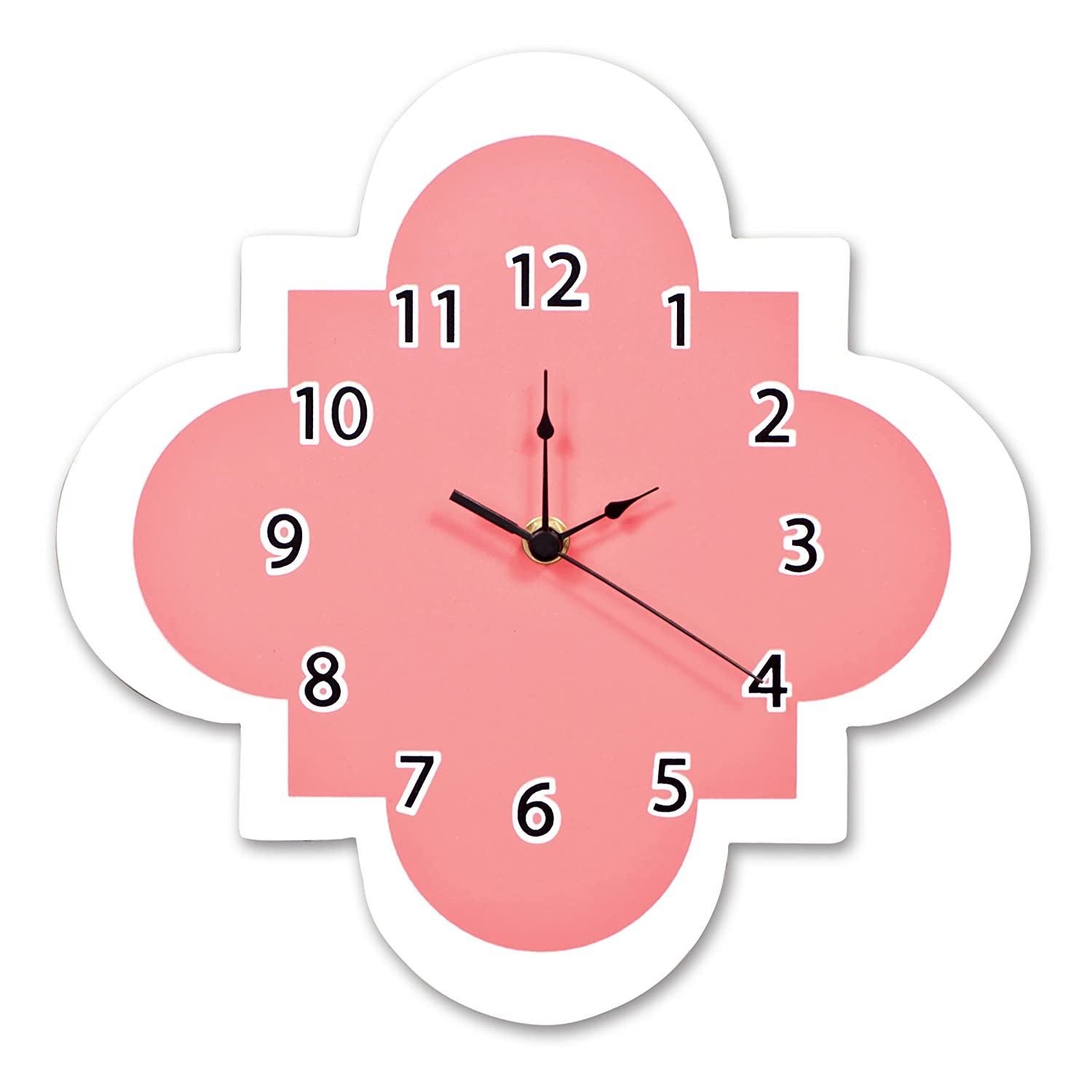 Amazon trend lab quatrefoil wall clock coral baby amipublicfo Image collections