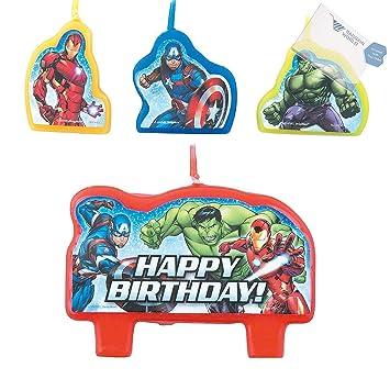 Amazon.com: Ganga World Marvel Avengers Set de velas (con ...
