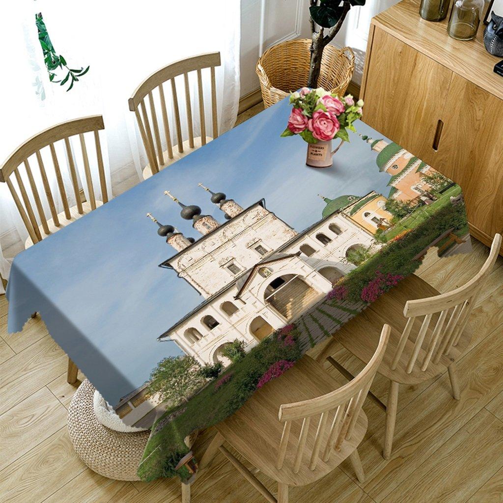 Ropa de Cocina Manteles rectangulares - 3D Landscape Series Mantel VC30 - Respetuoso con el Medio Ambiente y sin Sabor - Impreso digitalmente a Prueba de Agua (Tamaño : Square -216cmx216cm)