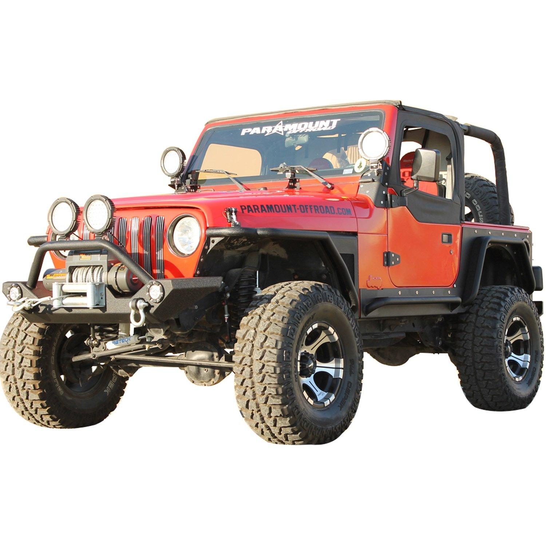 Paramount Restyling 51-0043 Black Corner Guard Jeep Wrangler TJ