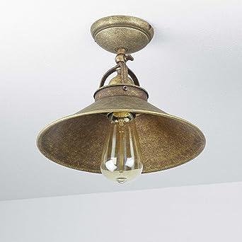 Premium Deckenleuchte Aus Messing Antik Industriestil E27 Bis 60W 230V Flur Wohnzimmer Esszimmer Lampe Leuchten Beleuchtung