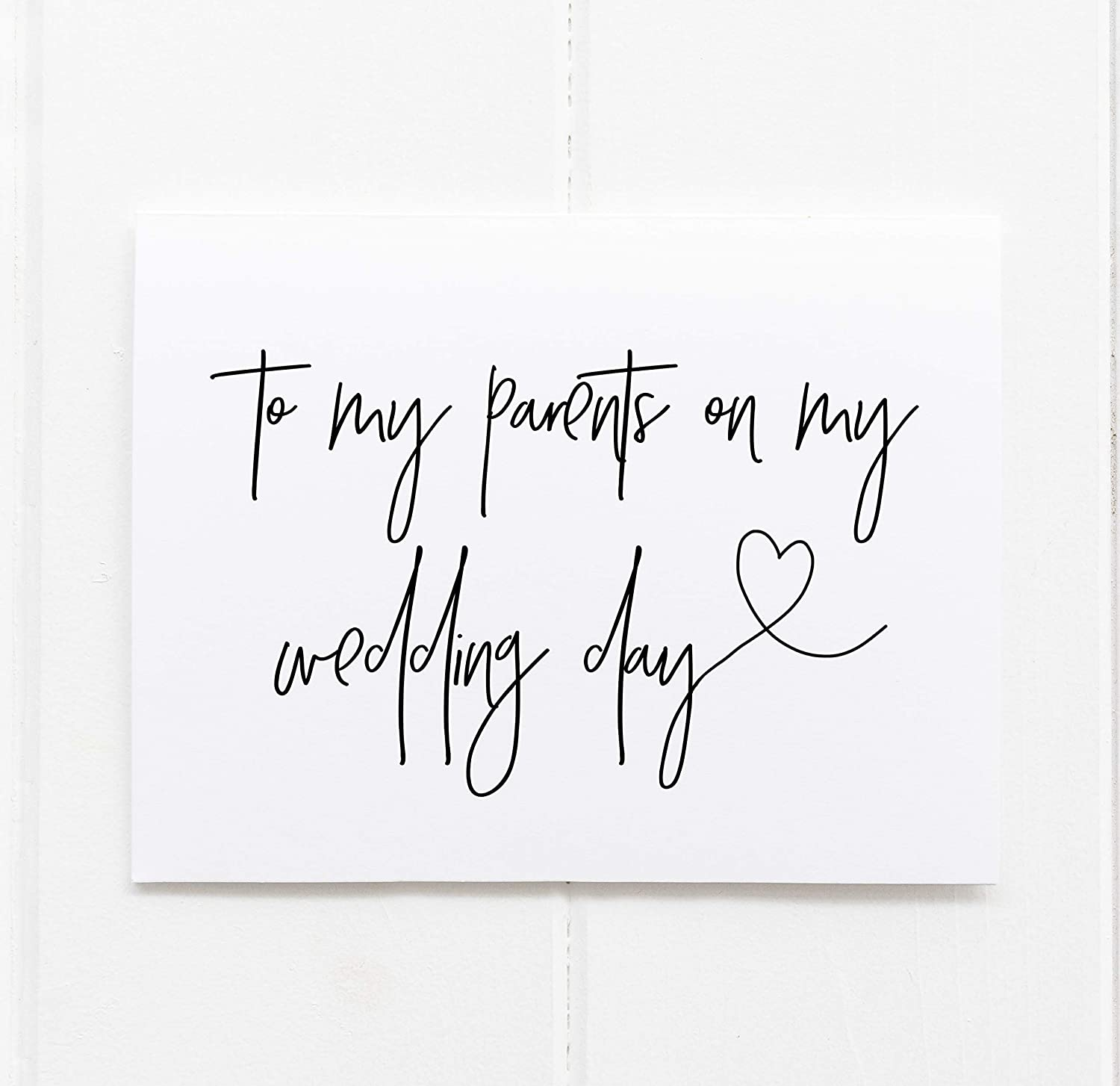 Wedding Day Card Dad To my Parents To my Father on my Wedding Day Dad Wedding Card To my Dad on my Wedding Day Father of the Bride Card