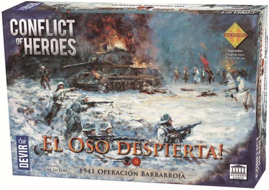 Devir - Conflict of Heroes - El Oso Despierta, Juego de Mesa (221060): Amazon.es: Juguetes y juegos
