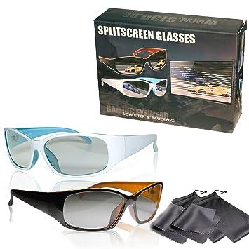 Gafas polarizadas para juegos en pantalla dividida - Alta calidad - Polarización circular pasiva - Para