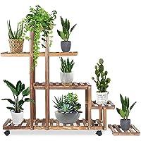 Joycelzen Plantenrek met wieltjes, voor binnen en buiten, tuin, patio, balkon, woonkamer