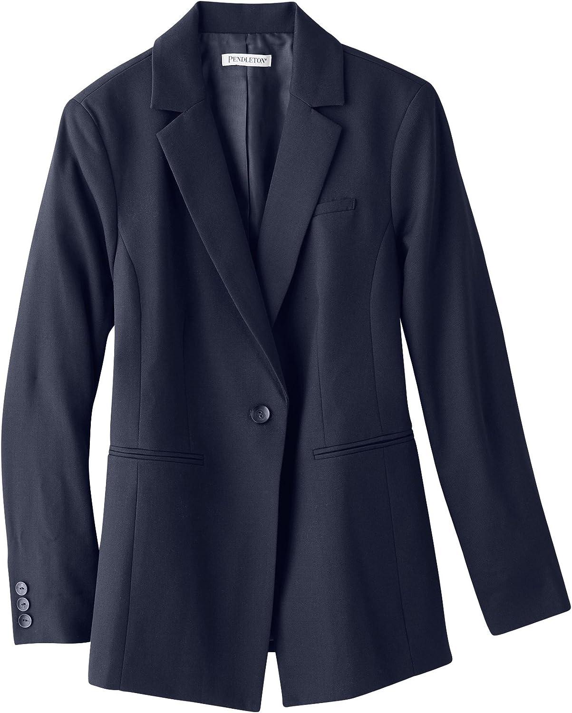 Pendleton Womens Plus Size Seasonless One Button Jacket