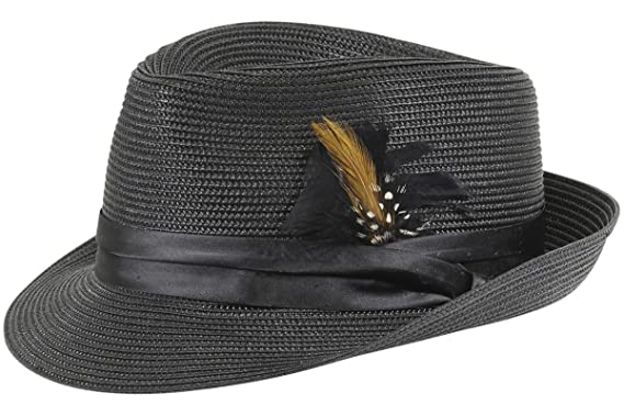 1c15ce0af19 STACY ADAMS Men s Black Teardrop Homburg Hat Sz  S at Amazon Men s ...