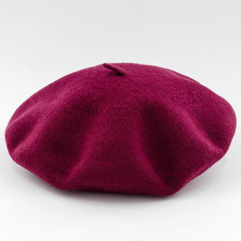 Amazon.com  Summer-lavender-Berets Wool Beret Painter Cap Flat Boina Gorras  Planas Candy Color Beret f6b1a394c4c