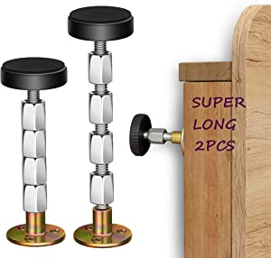 """N\A Adjustable Threaded Headboard Stoppers Fixer,Bed Frame Anti-Shake Tool,Bedside Antishake Telescopic Support Stabilizer for Room Wall, Beds, Cabinets, Sofas(2PCS,1.18""""-4.92"""")"""