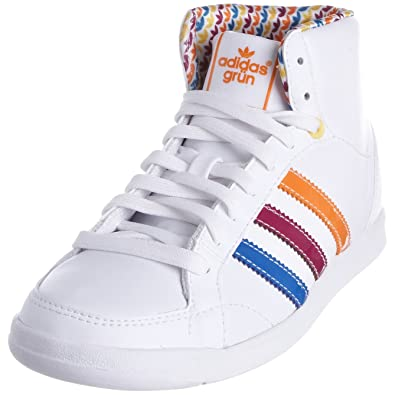 new arrival f3c01 0094e adidas Womens Adi Hoop Mid WhiteBluebirdUltra Beauty Trainer G14018 ...
