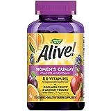 Nature's Way Alive! Women's Gummy Multivitamin, Fruit & Garden Veggie Blend, Full B Vitamin Complex, Gluten Free, made With P