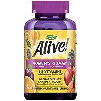 Nature's Way Alive! Women's Gummy Multivitamin, Fruit & Garden Veggie Blend, Full B Vitamin Complex, Gluten Free, made…