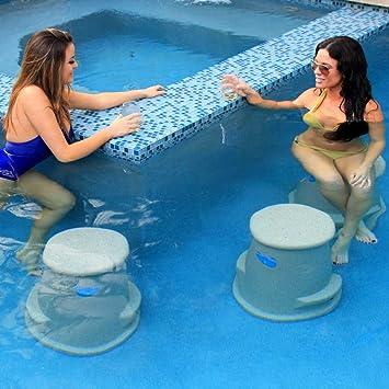 Amazon.com : Pool Seat | Swim Up Bar Stool- Liquidseat ...