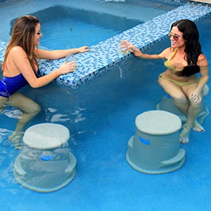 Amazon.com : Pool Seat | Swim Up Bar Stool- Liquidseat ...