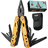 RoverTac Multitool with Safety Locking Handy Gifts for Men Women 12 in 1 Multi Tool with Pliers Knife Bottle Opener…
