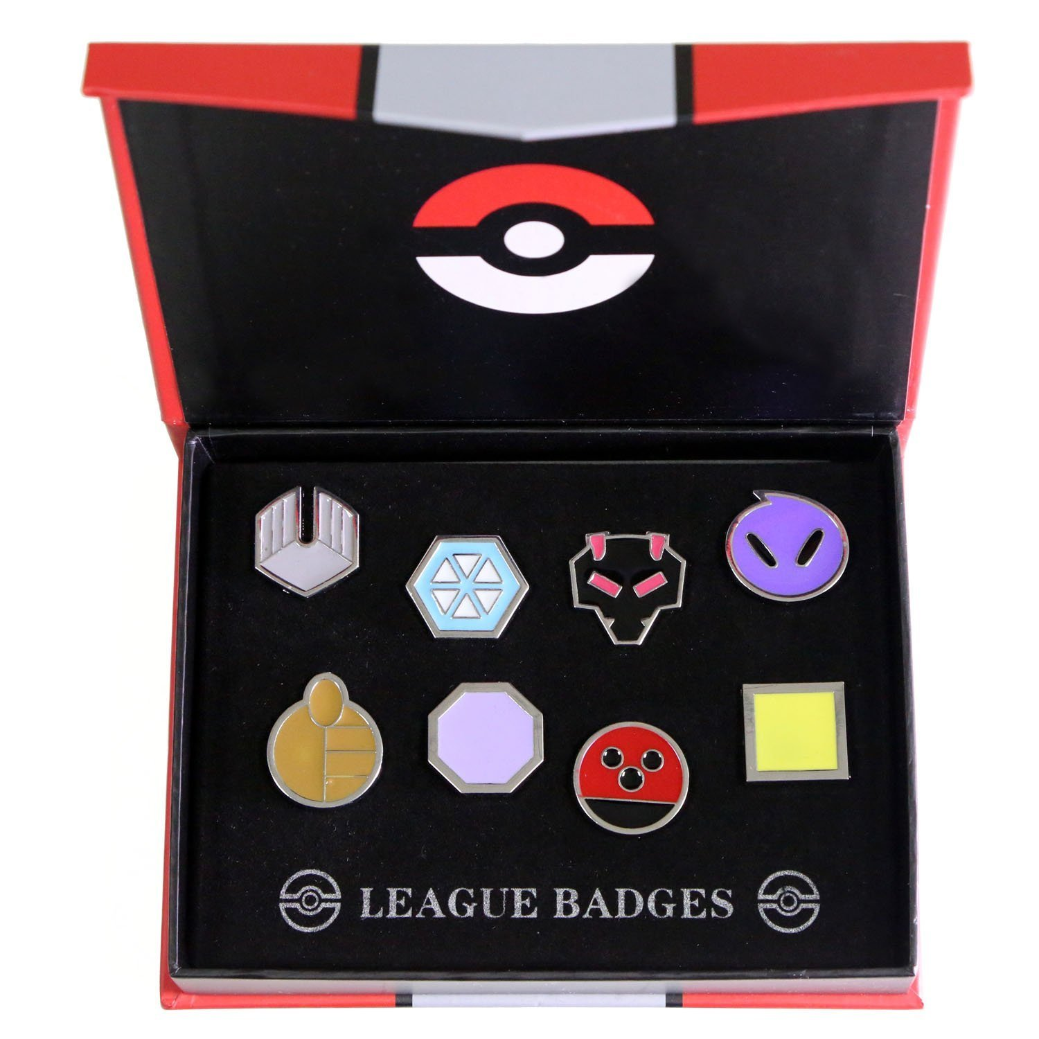 Aimee shine Pokemon Gym Badges Kanto Cosplay Insignes Collection Set accessoires de costume (8 pcs-C)