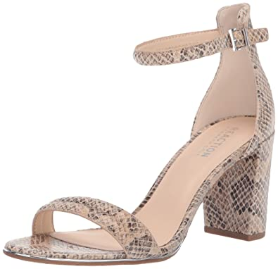 cb4b717cc9 Kenneth Cole REACTION Women's Lolita Strappy Heeled Sandal, Taupe Multi  Snake, ...