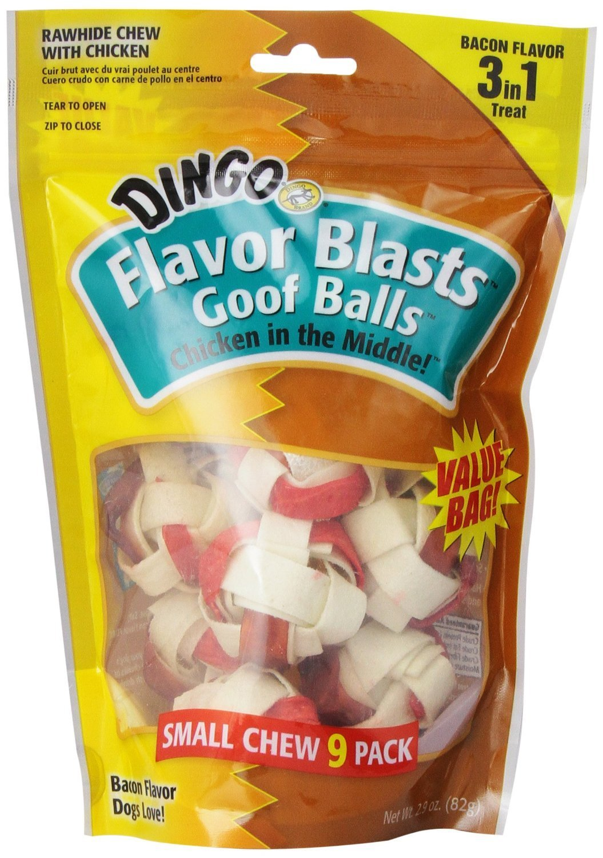 Dingo Flavor Blasts Goofballs, Small, 9-Count(2Pack)