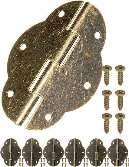 armadi bronzo cassette in stile vintage rustico 83 x 43 mm FUXXER/® cerniere in metallo cerniere in ferro design classico per armadi 2 cerniere antiche