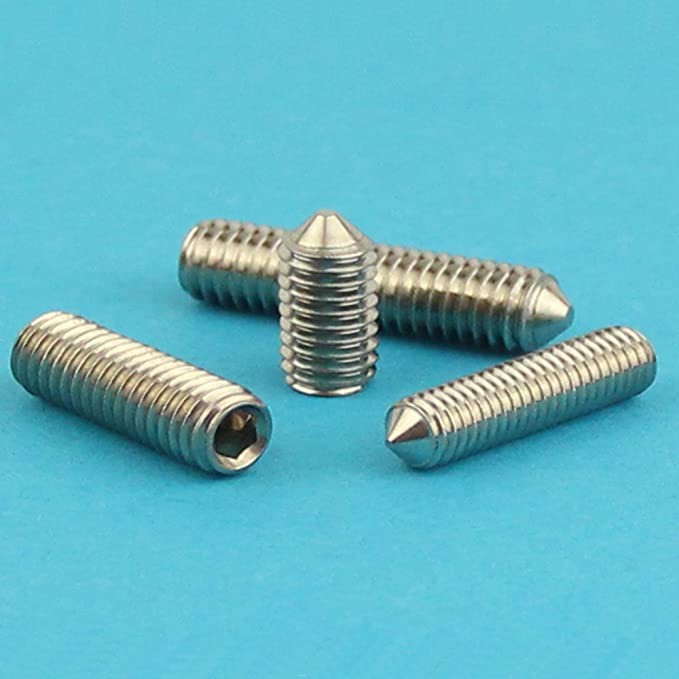 Edelstahl A2 V2A Gewindeschrauben rostfrei ISO 4027 Eisenwaren2000 M8 x 16 mm Gewindestift mit Innensechskant und Spitze 10 St/ück - Madenschrauben DIN 914