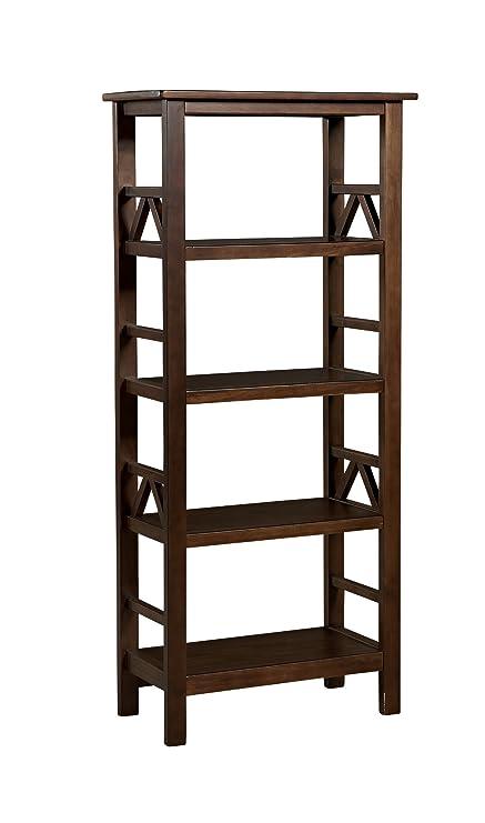 Strange Linon Home Dcor 86150Atob 01 Kd U Linon Home Decor Titian Bookcase 24 57 Wx 12 2 Dx 54 45 H Antique Tobacco Download Free Architecture Designs Scobabritishbridgeorg